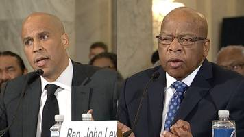 john lewis and cory booker: jeff sessions 'hostile to civil rights'
