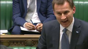 jeremy hunt: wales hasn't hit a&e target for eight years