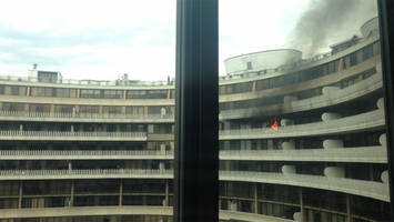 Fire Breaks Out At The Watergate