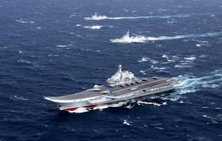 Taiwan Scrambles Jets, Navy After Chinese Aircraft Carrier Group Enters Taiwan Strait
