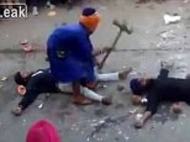 sikh and destroy: blindfolded martial arts master slams down a sledgehammer inches from trusting volunteers… until it goes painfully (and predictably) wrong