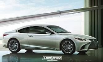 Lexus LS C Imagined as a BMW 8 Series / Audi A9 Competitor