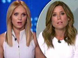 9 News host Amber Sherlock has a diva-eqsue meltdown and demands Julie Snook change out of white dress