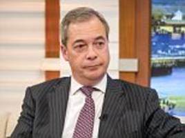 theresa may should make clear the uk had nothing to do with ex-mi6 agent's claims about 'dirty' russian dossier, says nigel farage as no10 tries to distance itself from row