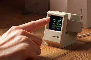 This Apple Watch stand turns your smartwatch into a miniature Macintosh