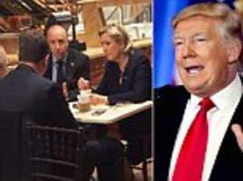 is marine le pen meeting donald trump? french national front leader has coffee at his tower with man known as his 'european fixer'