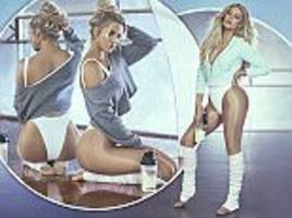 Khloe Kardashian flaunts posterior and physique in leotard for new fitness campaign