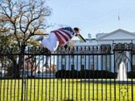 man who scaled white house fence with an american-flag cape and a 're-written' version of the constitution on thanksgiving in 2015 gets three years probation