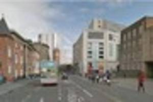 Delays after crash between bus and car in city street