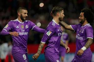 sevilla 3-3 real madrid (agg 3-6): los blancos' late show makes it 40 games unbeaten - 5 things we learned
