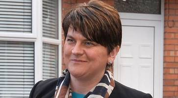 dup's arlene foster reveals sinister social media death threat to cut her head off