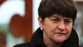 arlene foster alerts psni to 'beheading' threat