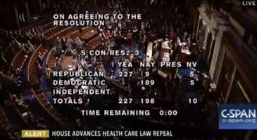 House Passes Budget Resolution Clearing Path For Obamacare Repeal