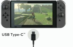 The Nintendo Switch charges over USB-C