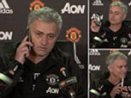 Jose Mourinho's press conference amusingly interrupted by phone call