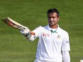 shakib al hasan and mushfiqur rahim hit highest partnership in bangladesh history as new zealand are made to toil in the field