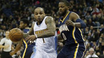 nba global games: denver nuggets beat indiana pacers at london's 02 arena