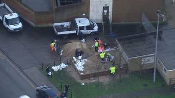 aerial footage show great yarmouth flood preparations