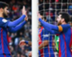 Alcacer, Arda, Gomes, Vidal - Barcelona's second string step up to help Messi & Suarez
