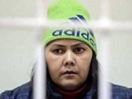 Mother of nanny who killed a four-year-old girl and carried her head through a Russian town shouting 'Allahu Akbar' says she fears her daughter will kill her family if freed