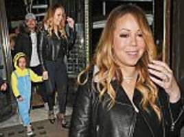 mariah carey enjoys dinner with beau bryan tanaka and children in london