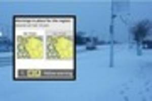 Weather warning for snow & ice remains in place for North...