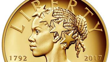 Lady Liberty as black woman on new coin