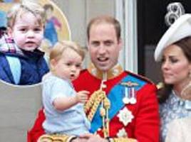 prince george 'won't attend the same school as his father as kate and william opt for smaller, more discreet pre-prep closer to kensington palace'