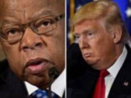 Trump unleashes Twitter attack against civil rights legend