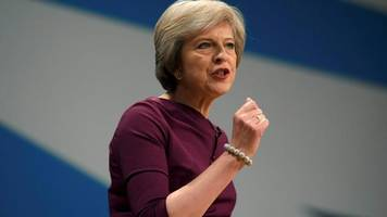 theresa may to call for clean and hard brexit as uk warns of market correction