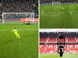 Liverpool FC fans get Spidercam view of James Milner penalty against Manchester United