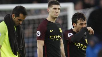 man city title challenge over after loss to everton - guardiola