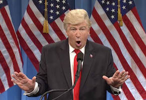 alec baldwin brutally mocks donald trump's first press conference on 'snl'