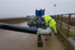 Watch emergency flood team at work to ease coastal flooding fears