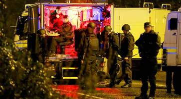 belfast bomb was meant to kill car crime police officers