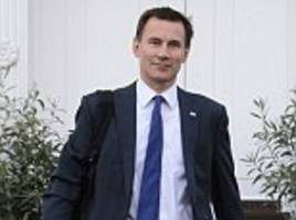 Health Secretary Jeremy Hunt to land £15million payday from sale of education business