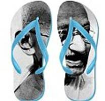 amazon removes flip flops depicting gandhi from sale following public outcry
