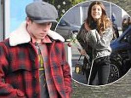 brooklyn beckham looks sombre as he leaves london pizzeria