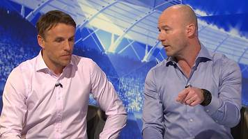 john stones: phil neville & alan shearer discuss manchester city defender
