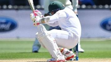 Mushfiqur hit by bouncer and taken to hospital