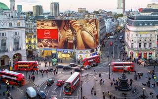 goodbye piccadilly: a century of patchwork billboards ends today