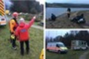 police, police divers and dartmoor search and rescue in search...