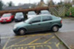 anger as mazda driver abandons car in 'keep clear' space