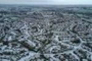 stunning aerial images show a snowy frome