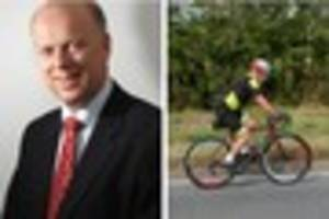 ashtead mp chris grayling under fire after implying cyclists are...