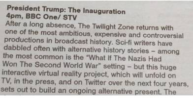 Trump TV listing goes viral