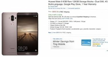Huawei Mate 9 with 6GB RAM and 128GB Storage Goes on Sale for $900