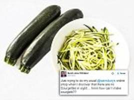Dieters go wild on social media over courgette shortage