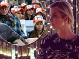 Protesters line outside Ivanka Trump's home