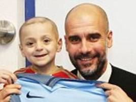 Man City boss Guardiola shows support for Bradley Lowery
